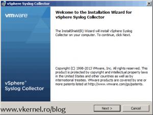 Install-Configure VMware vSphere Syslog Collector-02