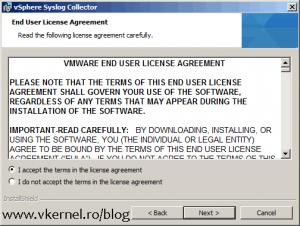 Install-Configure VMware vSphere Syslog Collector-03