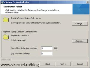 Install-Configure VMware vSphere Syslog Collector-04