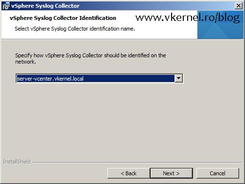 Install-Configure VMware vSphere Syslog Collector-11