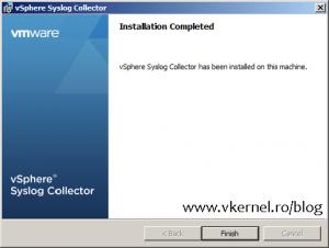 Install-Configure VMware vSphere Syslog Collector-14