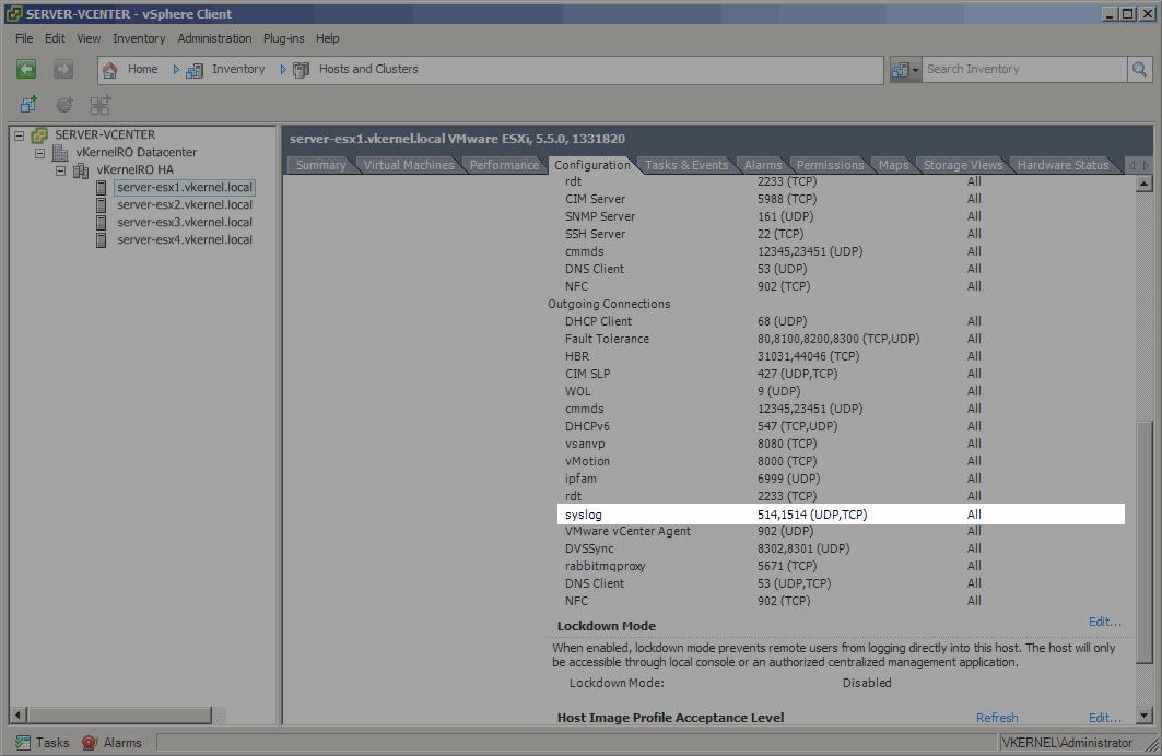 Install-Configure VMware vSphere Syslog Collector-22