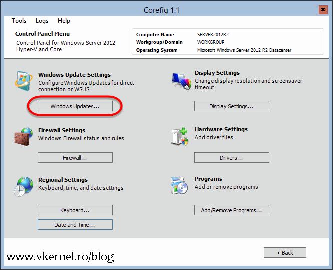Installing updates on Windows Server 2008/2012/R2 Core - Adrian