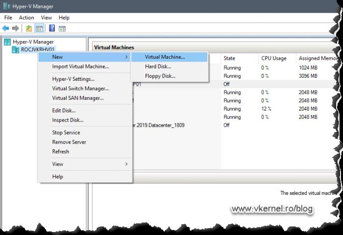 Creating the Hyper-V virtual machine