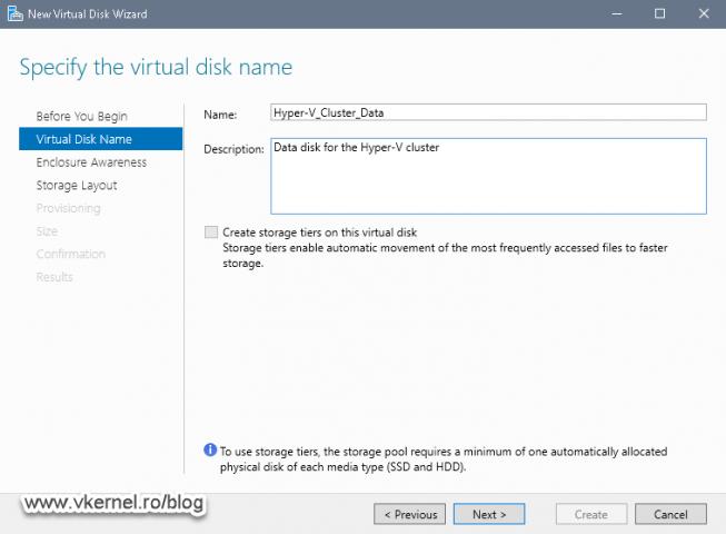Naming the virtual disk