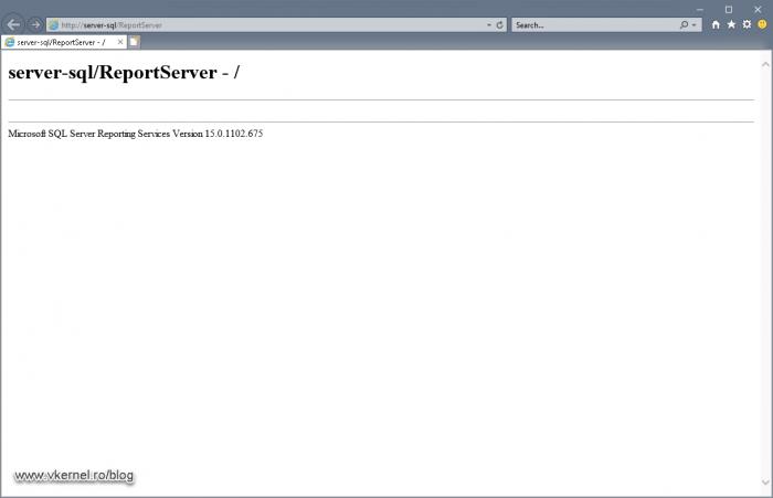 Verifying the Report Server URL